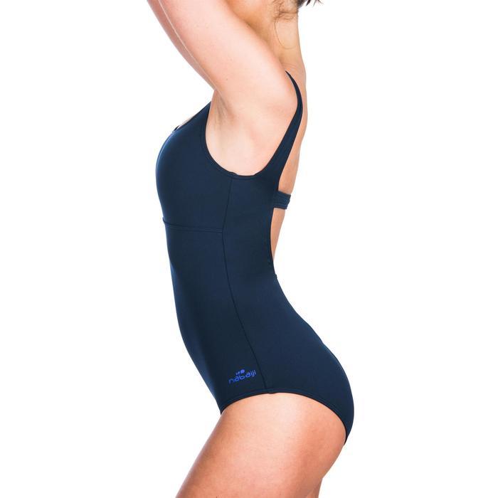 Maillot de bain de natation femme une pièce Heva+ bleu lif