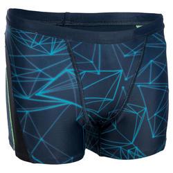 Zwemboxer voor jongens 550 Fit All Stel blauw