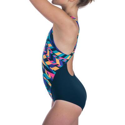 Maillot de bain de natation une pièce fille résistant au chlore Kamiye diago