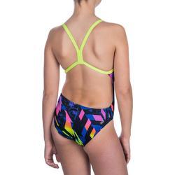 Bañador de natación una pieza para niña, resistente al cloro Lidia Medi amarillo