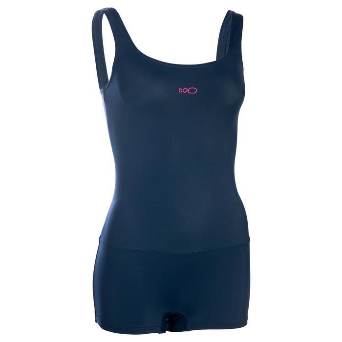 shortybadpak voor zwemmen dames Heva marineblauw