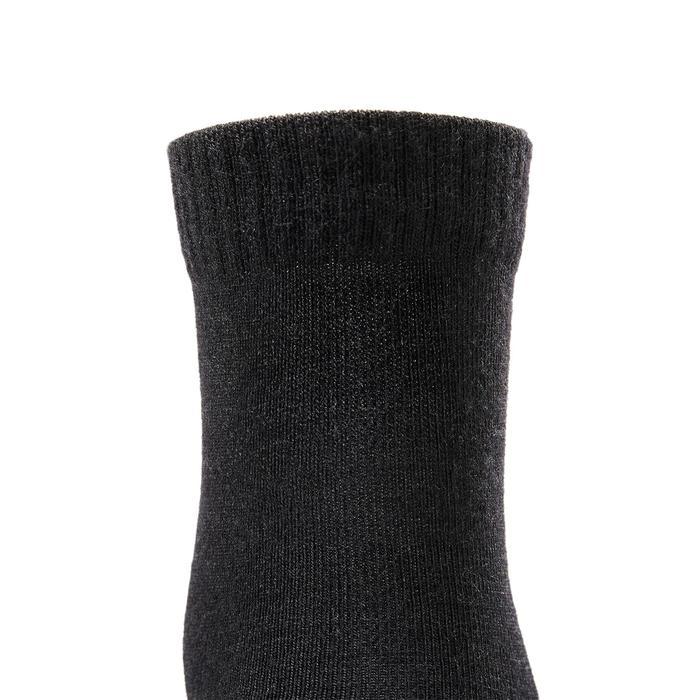 Calcetines marcha deportiva/nórdica SK 500 Warm negro