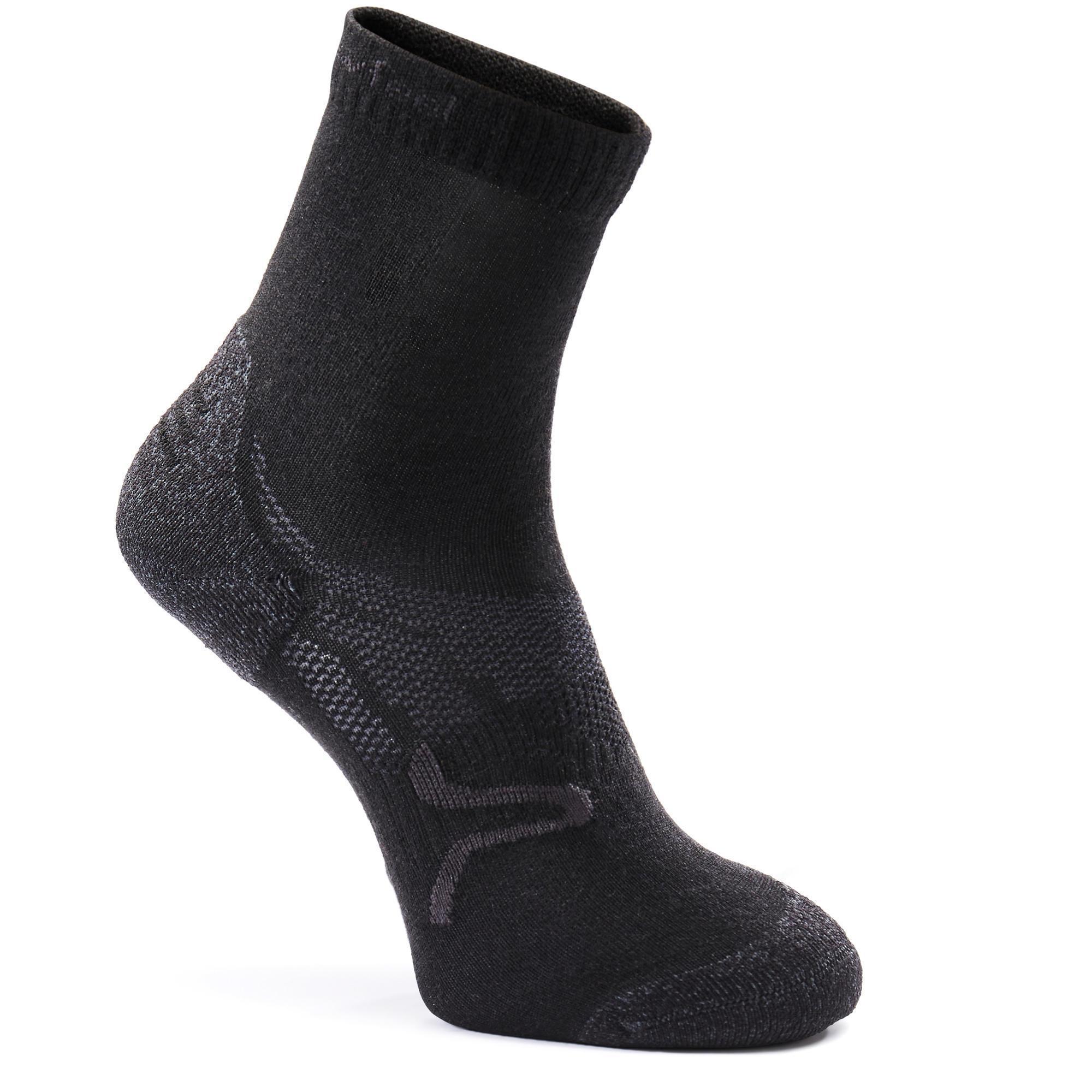 Newfeel Sokken sportief/nordic wandelen SK 500 Warm zwart