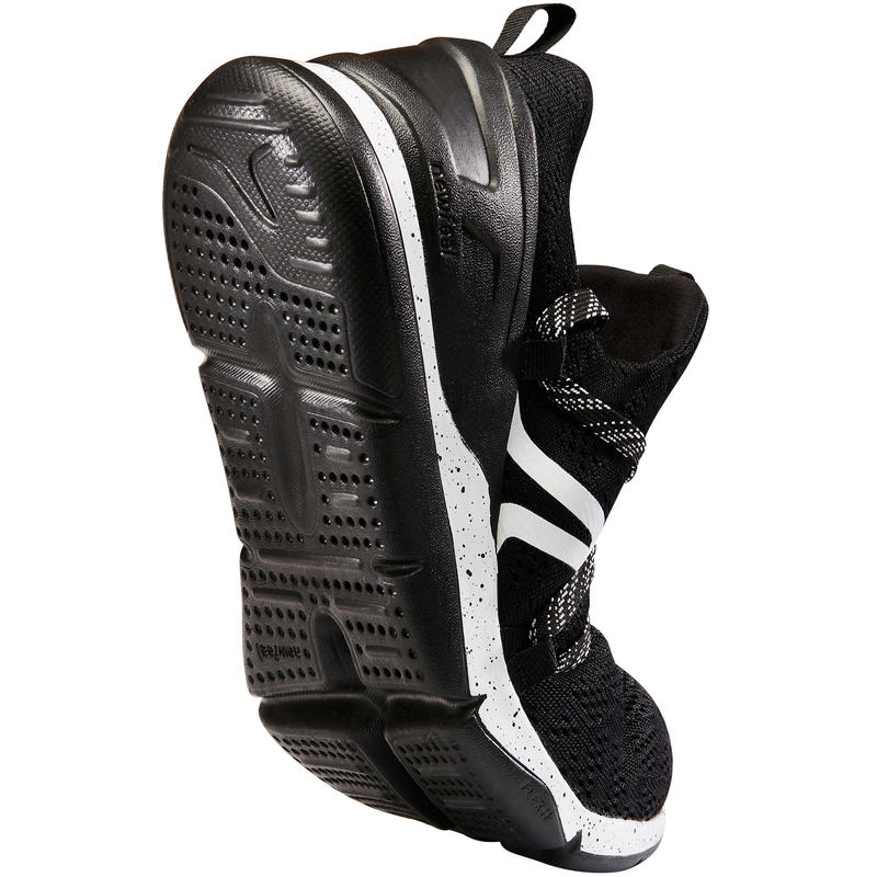 Chaussures marche sportive femme PW 140 noir / blanc
