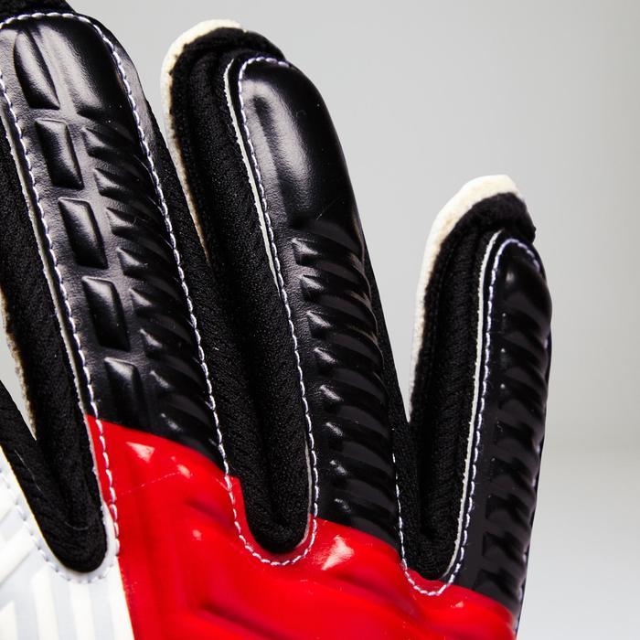 Torwarthandschuhe F500 Protect Kinder rot/weiß/hellgrau