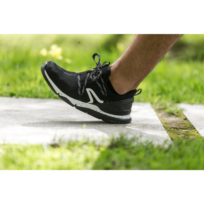 Freizeitschuhe Walking PW 140 Herren schwarz/weiß