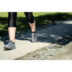 Damessneakers voor sportief wandelen PW 100 donkergrijs