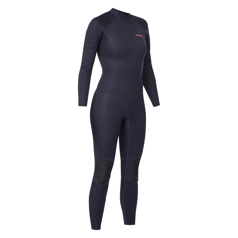 Traje SURF 100 Neopreno 2/2 mm mujer Azul marino