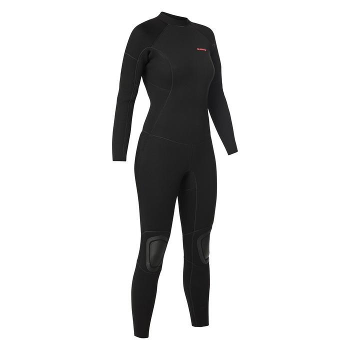 Dames wetsuit 100 neopreen 4/3 mm zwart - 1421416