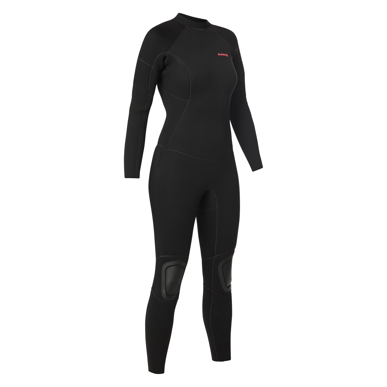 SURF 100 Women's Wetsuit 4/3 Neoprene - Black