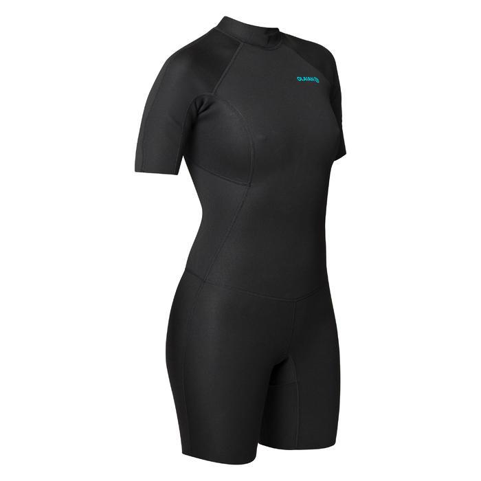 Neopreen surfpak shorty 100 voor dames 1,5 mm zwart - 1421417