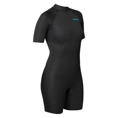Surf Shorty 100 women's wetsuit 1.5 mm neoprene - Black