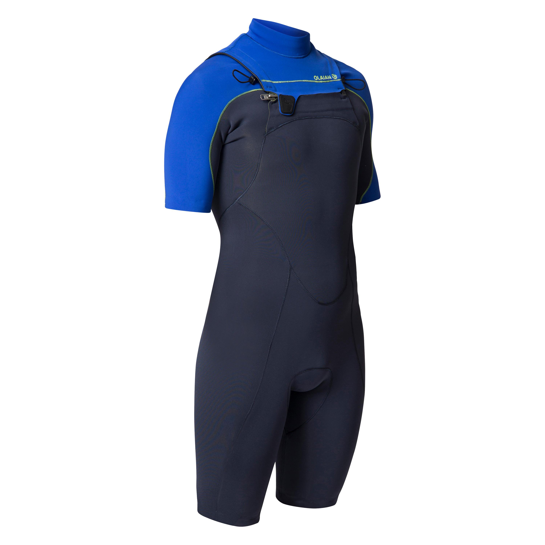 Neoprenanzug Shorty Surfen 900 Neopren 2mm Brust-RV Herren blau | Sportbekleidung > Sportanzüge > Sonstige Sportanzüge | Blau | Ab | Olaian