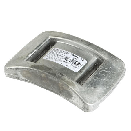 Uncoated diving weight 2 kg for diving, spearfishing, freediving