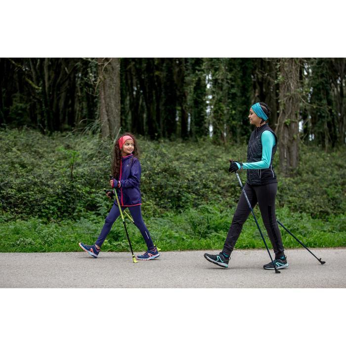 Nordic Walkingschuhe NW 580 wasserabweisend Kinder blau/apricot