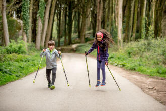 Nordic walking, it's child's play
