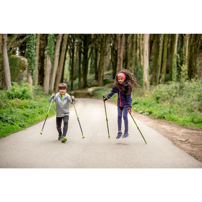 Telescopische nordic walking stokken voor kinderen NW P120 groen
