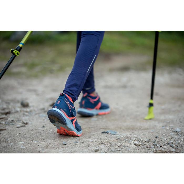 Nordic walking schoenen voor kinderen NW 580 blauw / koraal