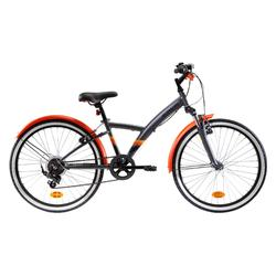"Kinderfahrrad 24"" Original 500S dunkelgrau/orange"