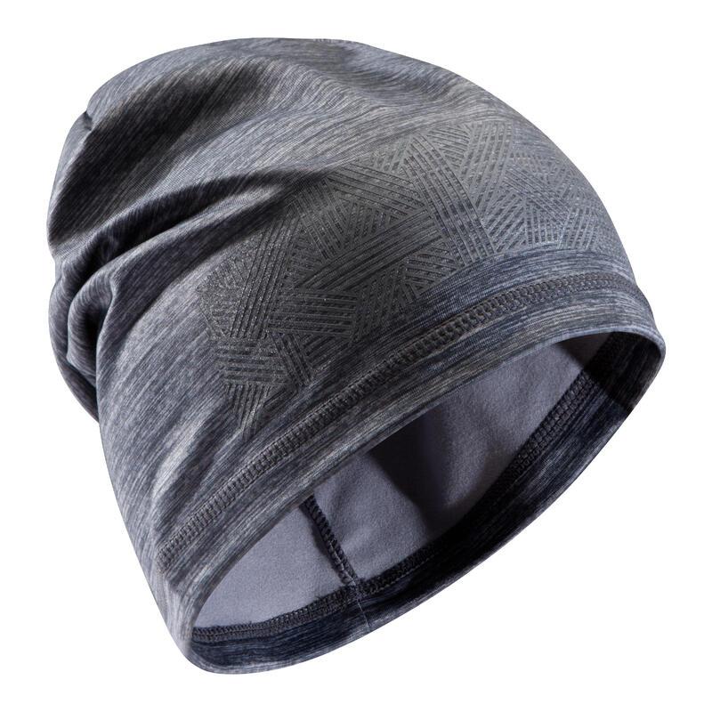 Bonnet Keepdry 500 adulte football gris chiné