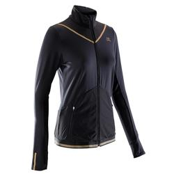 Kiprun Warm Women's Running Jacket - Black Gold