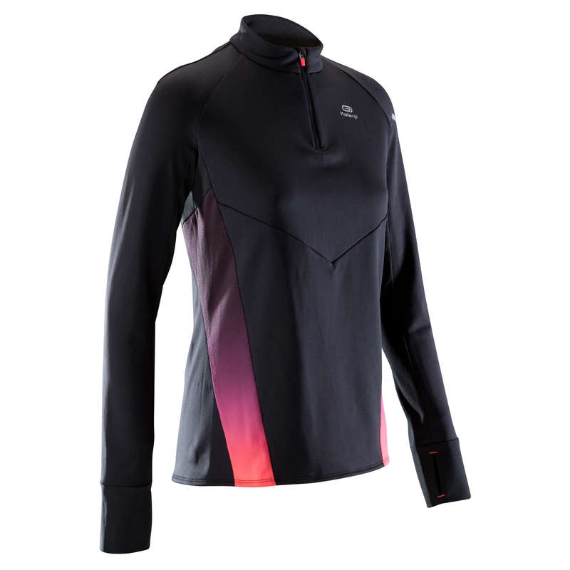 WOMAN ROAD RUNNING COLD WEATHER CLOTHES Clothing - KIPRUN WARM LIGHT W LS TOP KIPRUN - By Sport