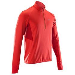 男款跑步運動長袖T恤KIPRUN WARM LIGHT