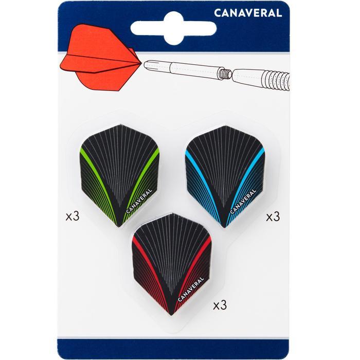 Pack van 3 sets van 3 standaard flights Visgraat Canaveral