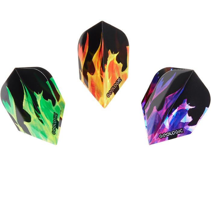 Dartflights Set 3 x 3 Standard Flammen