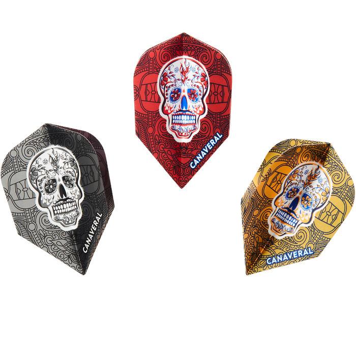 Pack van 3 sets van 3 standaard flights skulls
