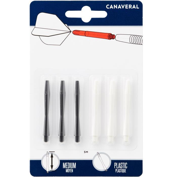 Pack van 2 sets van elk 3 medium plastic shafts