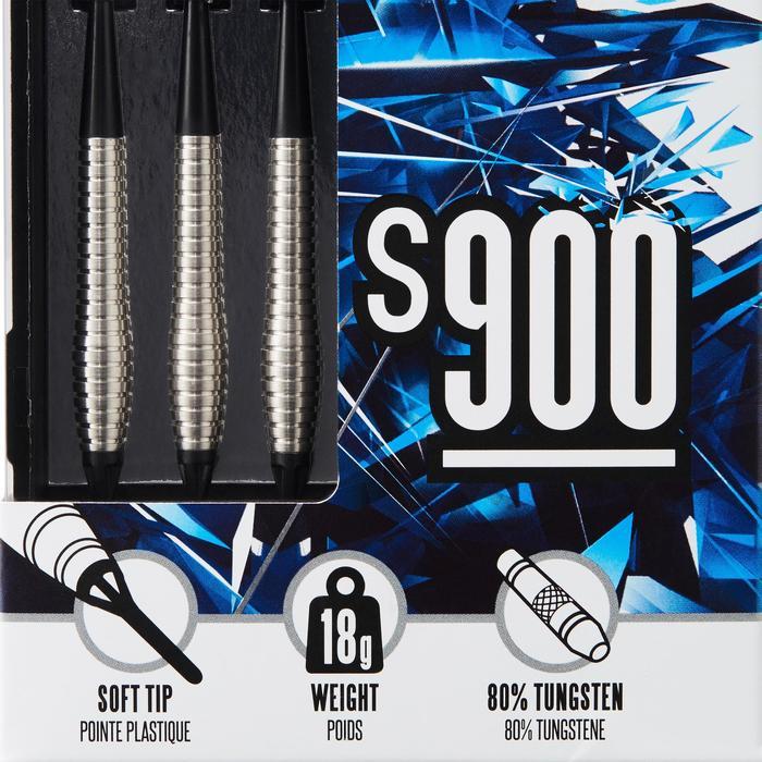3 FLECHETTES POINTES PLASTIQUE S900