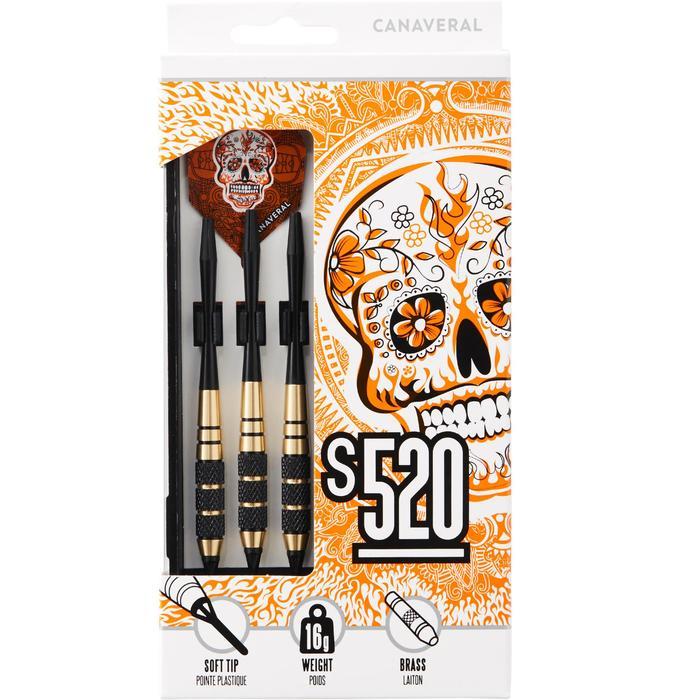 Dartpfeile S520 Softdart 3 Pfeile Kunststoffspitzen