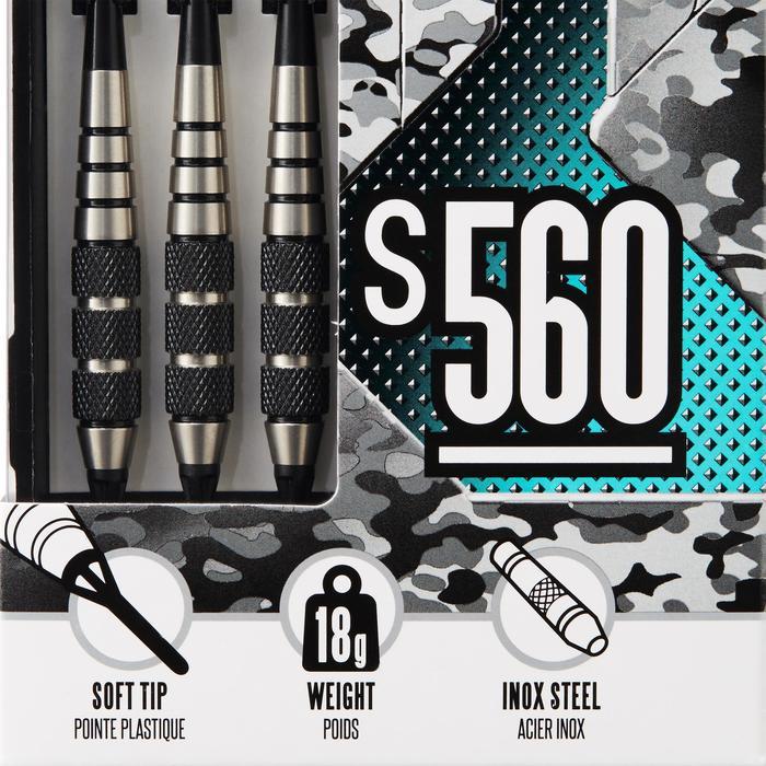 3 dartpijlen plastic punt S560