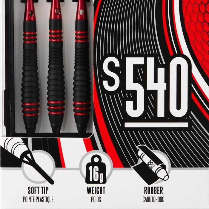 Dartpfeile S540 Softdart 3 Pfeile Kunststoffspitzen