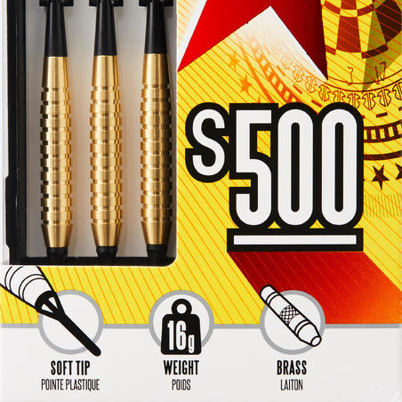 S500 Soft Tip Darts Tri-Pack