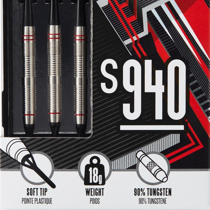 3 FLECHETTES POINTES PLASTIQUE S940
