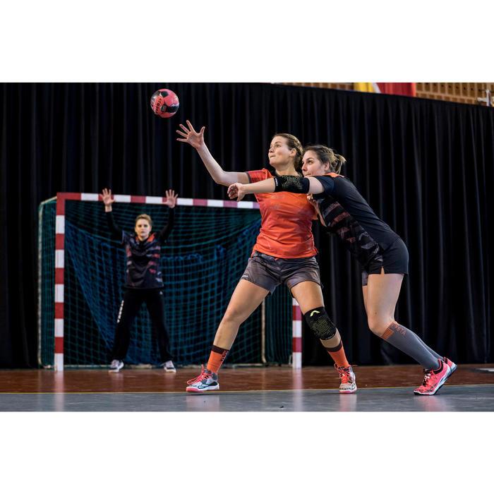 Chaussures de handball Mid femme grises et roses - 1422708