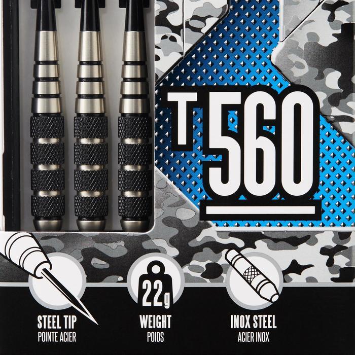 3 dartpijlen stalen punt T560