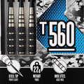 CÉLTÁBLÁK ÉS DARTS NYILAK ACÉL HEGGYEL Darts - Darts nyíl T560-as, 3 db CANAVERAL - Darts Nyíl