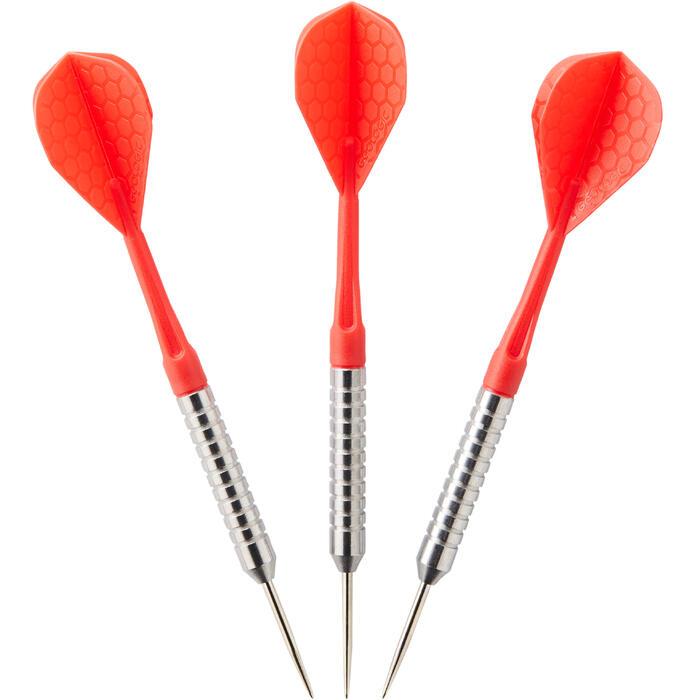 3 dartpijlen stalen punt T100 rood canaveral (14g)