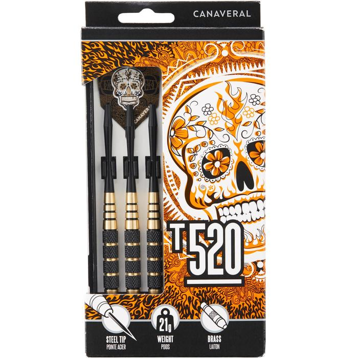 3 dartpijlen stalen punt T520