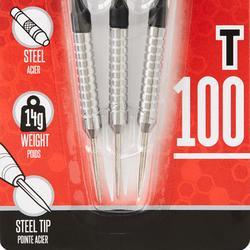 T100 Steel-Tipped Darts Tri-Pack - Black
