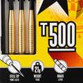 CÉLTÁBLÁK ÉS DARTS NYILAK ACÉL HEGGYEL Darts - Darts nyíl T500-as, 3 db CANAVERAL - Darts Nyíl