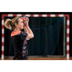 Handbalshirt dames H500 zwart / roze