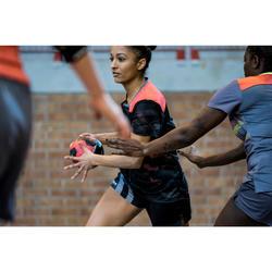 Maillot de handball adulte H500 noir/rose