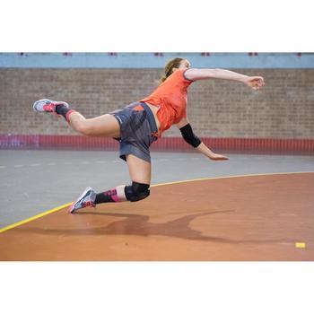 Short de balonmano H500 mujer gris y rosa