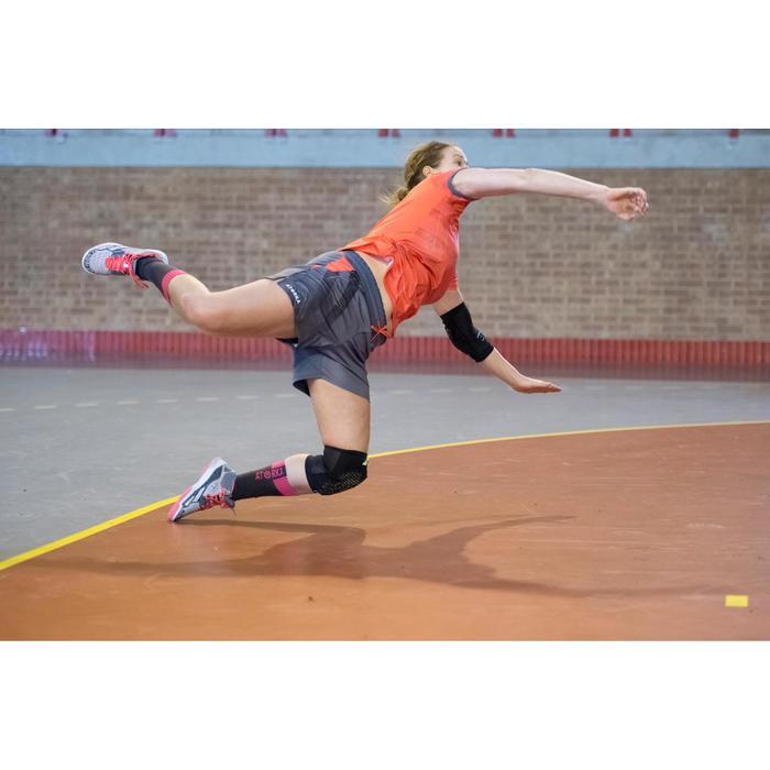 Short de handball H500 femme gris et rose