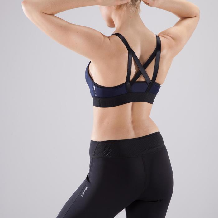 Sujetador-top fitness cardio-training mujer azul 500