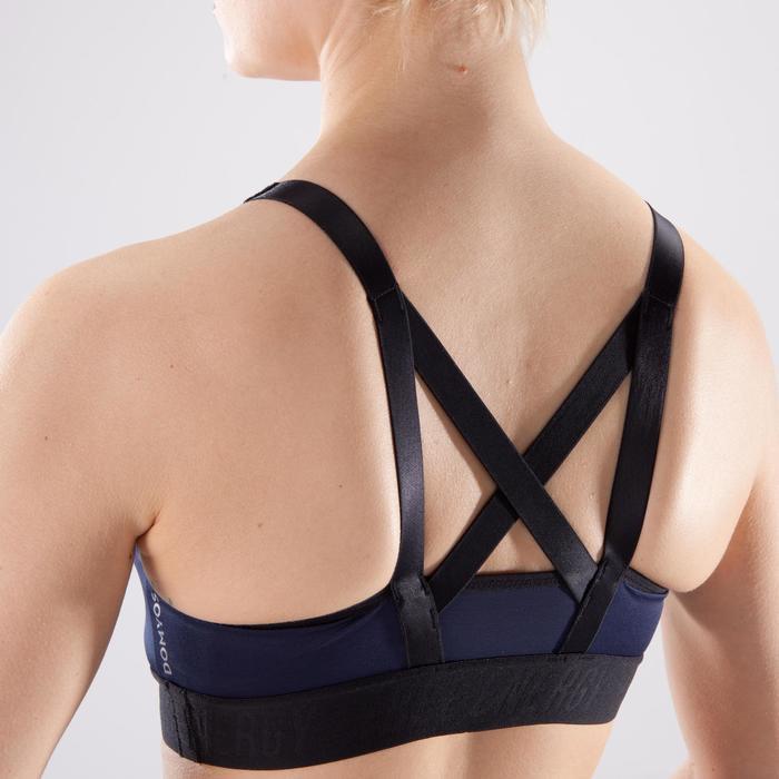 Sportbeha 500 voor cardiofitness blauw